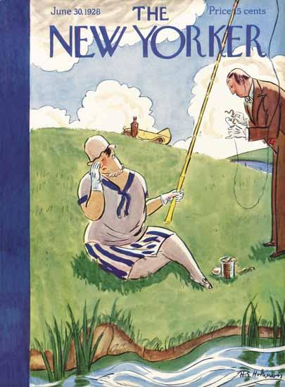 Roaring 1920s Helen E Hokinson The New Yorker 1928_06_30 Copyright | Roaring 1920s Ad Art and Magazine Cover Art