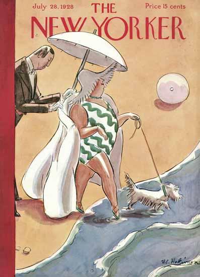 Roaring 1920s Helen E Hokinson The New Yorker 1928_07_28 Copyright | Roaring 1920s Ad Art and Magazine Cover Art