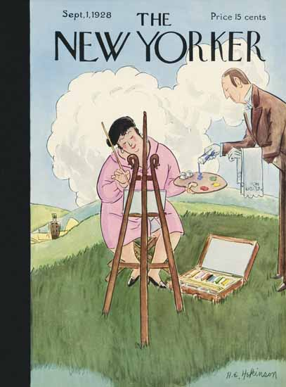 Roaring 1920s Helen E Hokinson The New Yorker 1928_09_01 Copyright | Roaring 1920s Ad Art and Magazine Cover Art