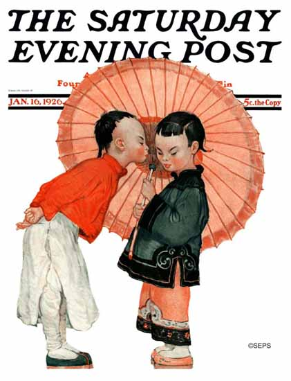 Roaring 1920s Henry J Soulen Saturday Evening Post Cover 1926_01_16 | Roaring 1920s Ad Art and Magazine Cover Art