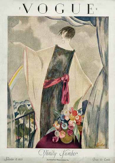 Roaring 1920s Henry R Sutter Vogue Cover 1923-11-15 Copyright | Roaring 1920s Ad Art and Magazine Cover Art