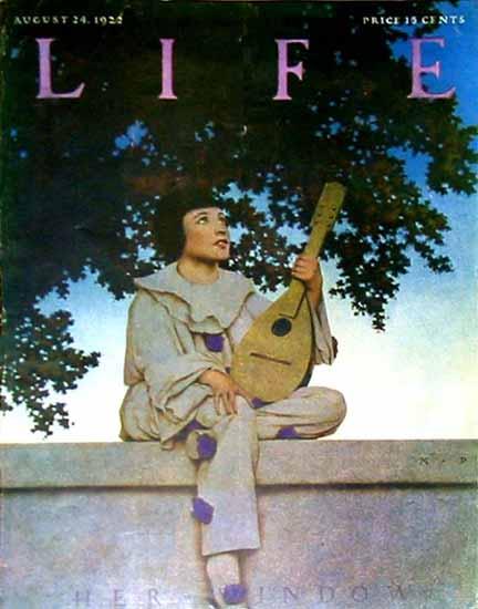 Roaring 1920s Her Window Life Humor Magazine 1922-08-24 Copyright | Roaring 1920s Ad Art and Magazine Cover Art