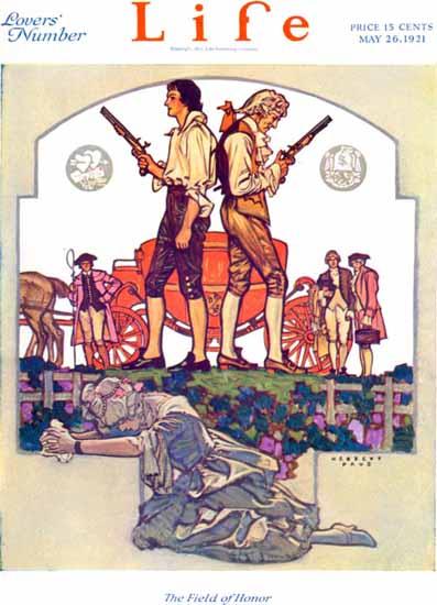 Roaring 1920s Herbert Paus Life Humor Magazine 1921-05-26 Copyright | Roaring 1920s Ad Art and Magazine Cover Art