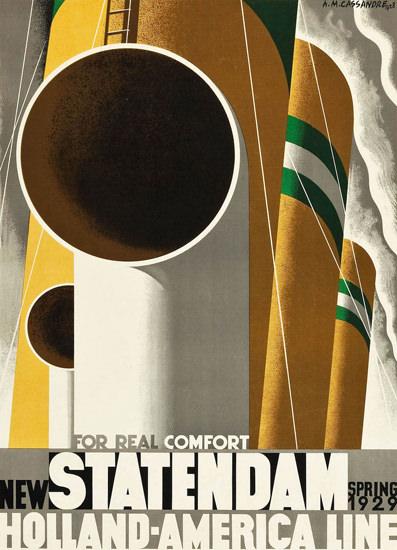 Roaring 1920s Holland-America Comfort New Statendam 1929 | Roaring 1920s Ad Art and Magazine Cover Art