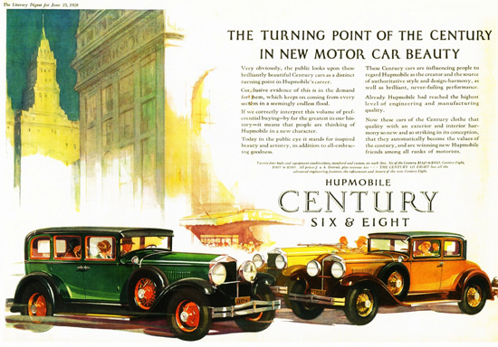 Roaring 1920s Hupmobile Century 1928 Turning Point | Roaring 1920s Ad Art and Magazine Cover Art