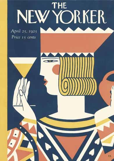 Roaring 1920s Ilonka Karasz The New Yorker 1925_04_25 Copyright | Roaring 1920s Ad Art and Magazine Cover Art