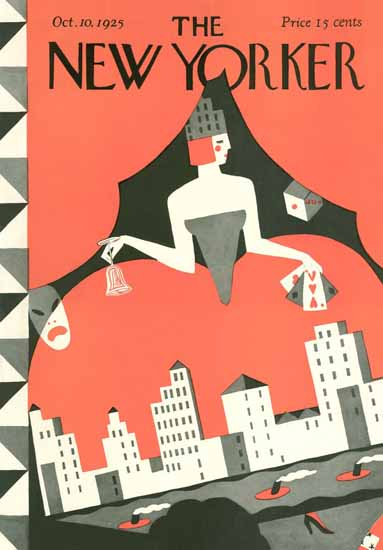 Roaring 1920s Ilonka Karasz The New Yorker 1925_10_10 Copyright | Roaring 1920s Ad Art and Magazine Cover Art