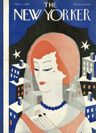 Roaring 1920s Ilonka Karasz The New Yorker 1925_11_07 Copyright | Roaring 1920s Ad Art and Magazine Cover Art