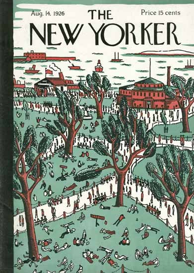 Roaring 1920s Ilonka Karasz The New Yorker 1926_08_14 Copyright | Roaring 1920s Ad Art and Magazine Cover Art