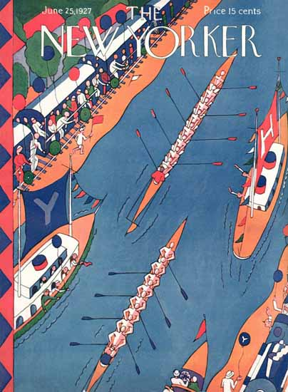 Roaring 1920s Ilonka Karasz The New Yorker 1927_06_25 Copyright | Roaring 1920s Ad Art and Magazine Cover Art