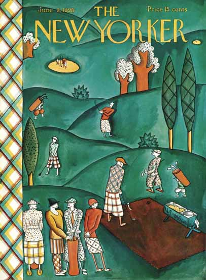 Roaring 1920s Ilonka Karasz The New Yorker 1928_06_09 Copyright | Roaring 1920s Ad Art and Magazine Cover Art