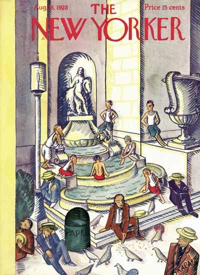Roaring 1920s Ilonka Karasz The New Yorker 1928_08_18 Copyright | Roaring 1920s Ad Art and Magazine Cover Art