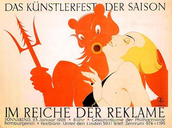 Roaring 1920s Im Reiche Der Reklame Kuenstler Fest 1925 | Roaring 1920s Ad Art and Magazine Cover Art