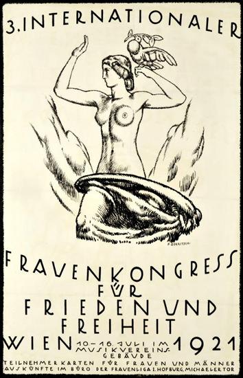 Roaring 1920s Internationaler Frauenkongress Wien 1921 | Roaring 1920s Ad Art and Magazine Cover Art