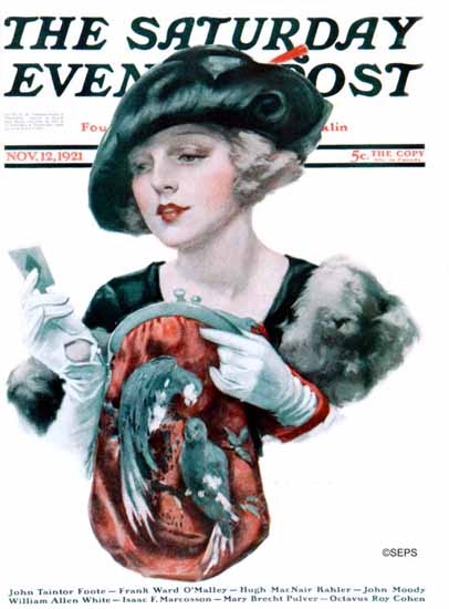 Roaring 1920s J Knowles Hare Artist Saturday Evening Post 1921_11_12 | Roaring 1920s Ad Art and Magazine Cover Art