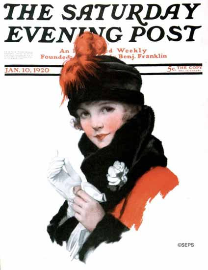 Roaring 1920s J Knowles Hare Saturday Evening Post 1920_01_10 | Roaring 1920s Ad Art and Magazine Cover Art