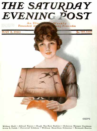 Roaring 1920s J Knowles Hare Saturday Evening Post 1920_05_08 | Roaring 1920s Ad Art and Magazine Cover Art