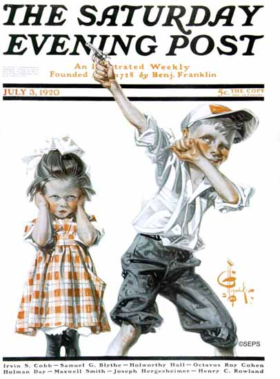 Roaring 1920s JC Leyendecker Artist Saturday Evening Post 1920_07_03 | Roaring 1920s Ad Art and Magazine Cover Art