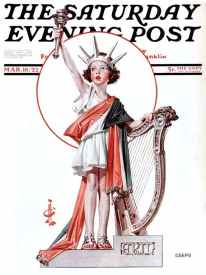 Roaring 1920s JC Leyendecker Artist Saturday Evening Post 1922_03_18 | Roaring 1920s Ad Art and Magazine Cover Art