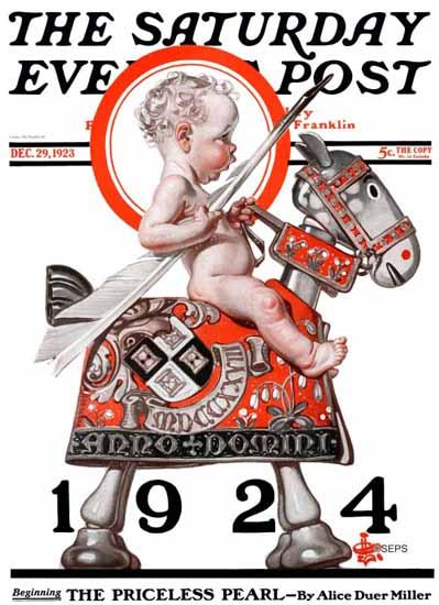 Roaring 1920s JC Leyendecker Artist Saturday Evening Post 1923_12_29 | Roaring 1920s Ad Art and Magazine Cover Art
