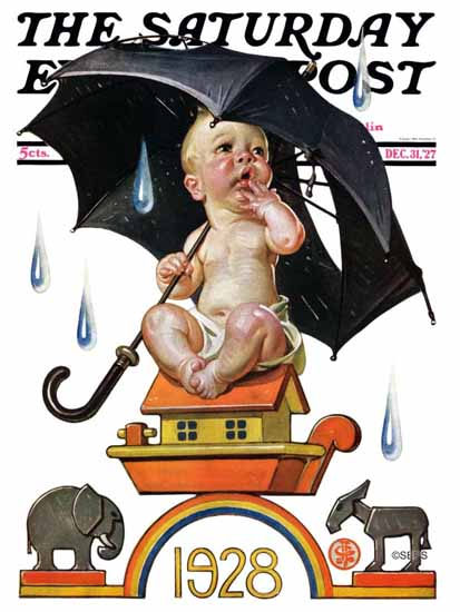 Roaring 1920s JC Leyendecker Artist Saturday Evening Post 1927_12_31 | Roaring 1920s Ad Art and Magazine Cover Art