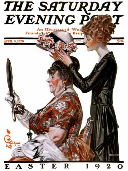 Roaring 1920s JC Leyendecker Saturday Evening Post 1920_04_03 | Roaring 1920s Ad Art and Magazine Cover Art