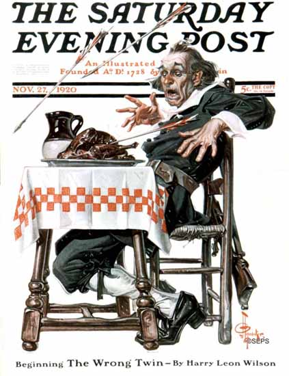 Roaring 1920s JC Leyendecker Saturday Evening Post 1920_11_27 | Roaring 1920s Ad Art and Magazine Cover Art