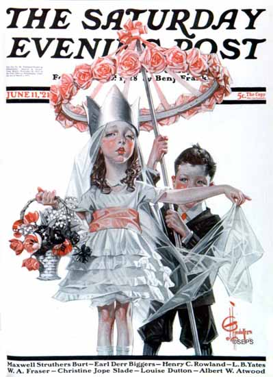Roaring 1920s JC Leyendecker Saturday Evening Post 1921_06_11 | Roaring 1920s Ad Art and Magazine Cover Art