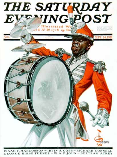 Roaring 1920s JC Leyendecker Saturday Evening Post 1921_09_24 | Roaring 1920s Ad Art and Magazine Cover Art