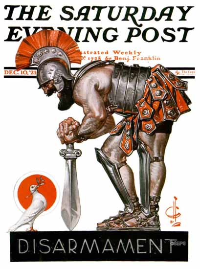 Roaring 1920s JC Leyendecker Saturday Evening Post 1921_12_10 | Roaring 1920s Ad Art and Magazine Cover Art