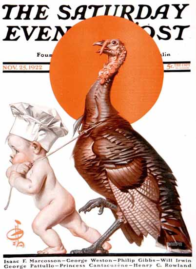 Roaring 1920s JC Leyendecker Saturday Evening Post 1922_11_25 | Roaring 1920s Ad Art and Magazine Cover Art