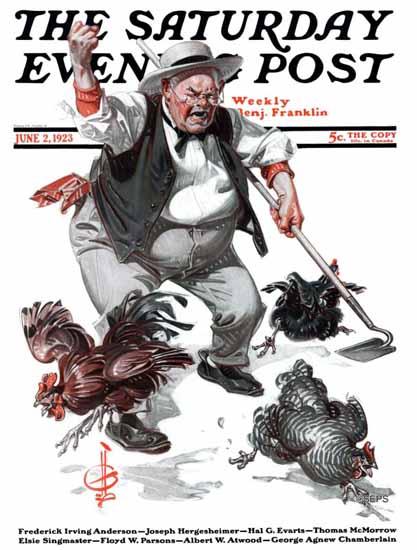 Roaring 1920s JC Leyendecker Saturday Evening Post 1923_06_02 | Roaring 1920s Ad Art and Magazine Cover Art