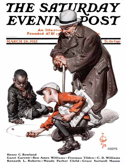 Roaring 1920s JC Leyendecker Saturday Evening Post 1925_03_28 | Roaring 1920s Ad Art and Magazine Cover Art