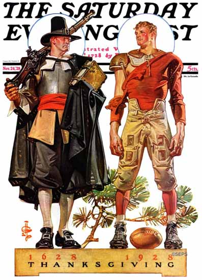 Roaring 1920s JC Leyendecker Saturday Evening Post 1928_11_24 | Roaring 1920s Ad Art and Magazine Cover Art