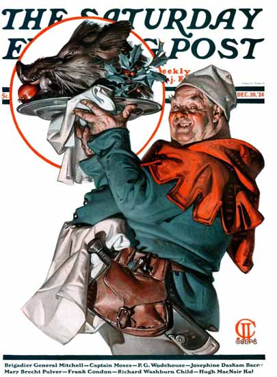 Roaring 1920s JC Leyendecker Saturday Evening Post Boar 1924_12_20 | Roaring 1920s Ad Art and Magazine Cover Art