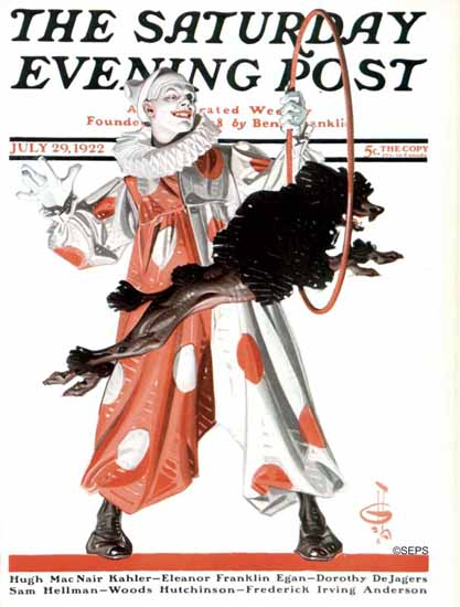 Roaring 1920s JC Leyendecker Saturday Evening Post Clown 1922_07_29 | Roaring 1920s Ad Art and Magazine Cover Art