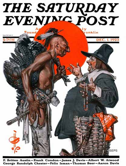 Roaring 1920s JC Leyendecker Saturday Evening Post Deal 1923_12_01 | Roaring 1920s Ad Art and Magazine Cover Art