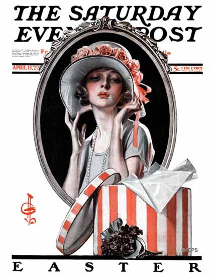 Roaring 1920s JC Leyendecker Saturday Evening Post Easter 1922_04_15 | Roaring 1920s Ad Art and Magazine Cover Art