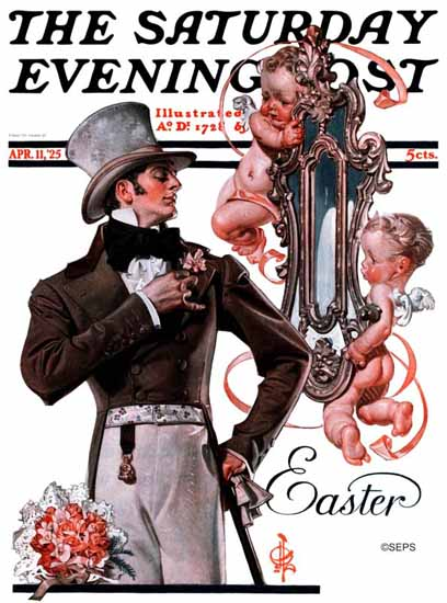 Roaring 1920s JC Leyendecker Saturday Evening Post Easter 1925_04_11 | Roaring 1920s Ad Art and Magazine Cover Art