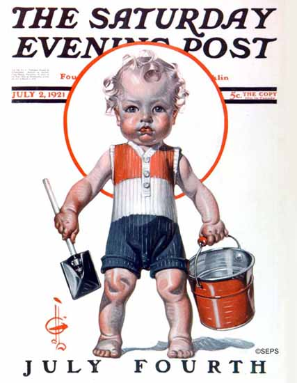 Roaring 1920s JC Leyendecker Saturday Evening Post July 4th 1921_07_02   Roaring 1920s Ad Art and Magazine Cover Art