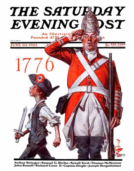 Roaring 1920s JC Leyendecker Saturday Evening Post July 4th 1923_06_30 | Roaring 1920s Ad Art and Magazine Cover Art