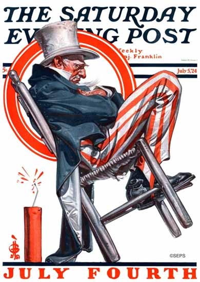 Roaring 1920s JC Leyendecker Saturday Evening Post July 4th 1924_07_05 | Roaring 1920s Ad Art and Magazine Cover Art