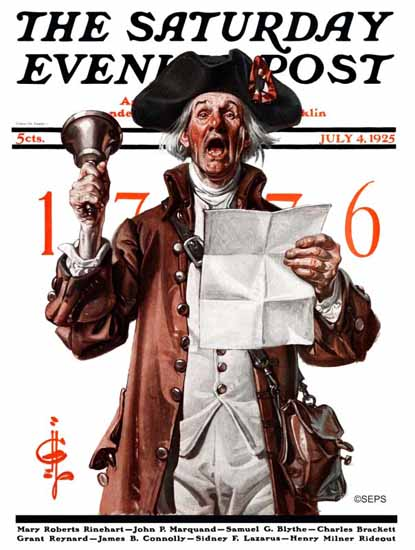 Roaring 1920s JC Leyendecker Saturday Evening Post July 4th 1925_07_04 | Roaring 1920s Ad Art and Magazine Cover Art