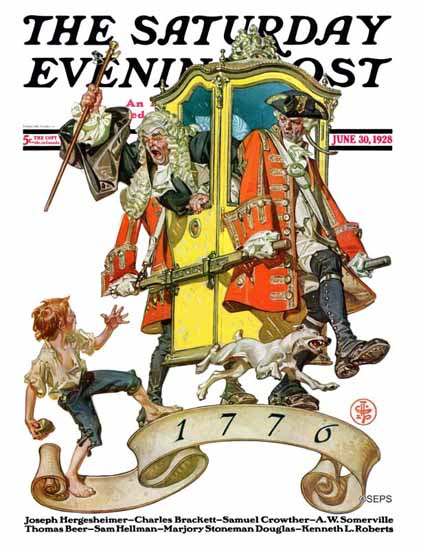 Roaring 1920s JC Leyendecker Saturday Evening Post July 4th 1928_06_30 | Roaring 1920s Ad Art and Magazine Cover Art