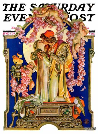 Roaring 1920s JC Leyendecker Saturday Evening Post June 1929_06_08 | Roaring 1920s Ad Art and Magazine Cover Art