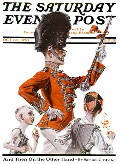 Roaring 1920s JC Leyendecker Saturday Evening Post Major 1920_10_30 | Roaring 1920s Ad Art and Magazine Cover Art