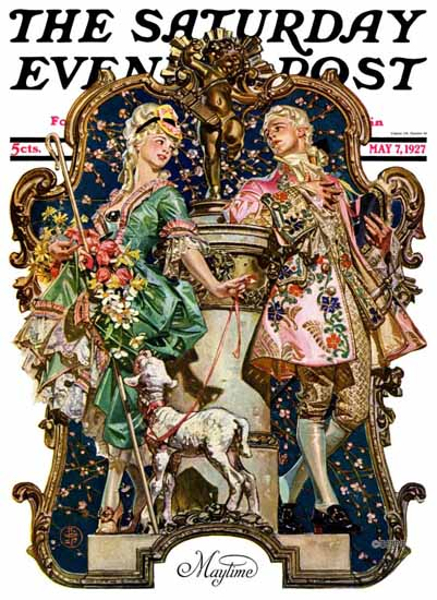 Roaring 1920s JC Leyendecker Saturday Evening Post Maytime 1927_05_07 | Roaring 1920s Ad Art and Magazine Cover Art