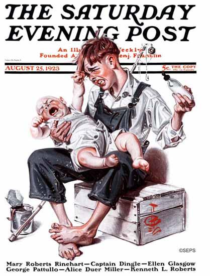 Roaring 1920s JC Leyendecker Saturday Evening Post Plum 1923_08_25 | Roaring 1920s Ad Art and Magazine Cover Art