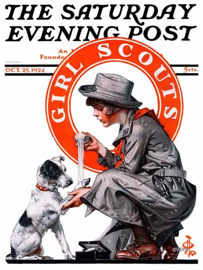 Roaring 1920s JC Leyendecker Saturday Evening Post Scouts 1924_10_25 | Roaring 1920s Ad Art and Magazine Cover Art