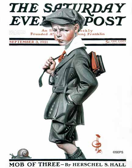 Roaring 1920s JC Leyendecker Saturday Evening Post Snail 1921_09_03 | Roaring 1920s Ad Art and Magazine Cover Art
